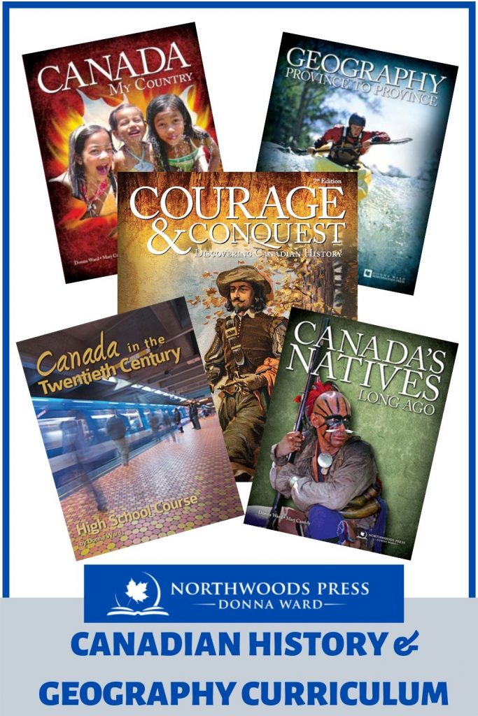 Book Covers for Canadian History and Geography curricula by Donna Ward