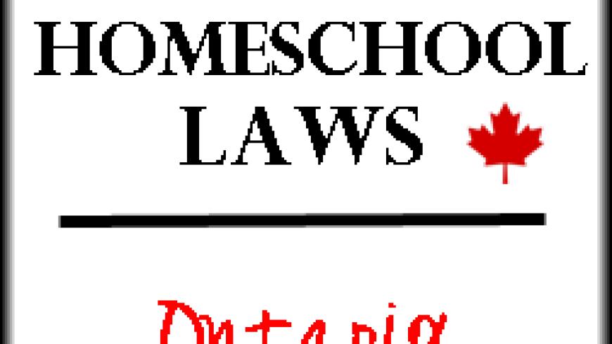 Canadian Homeschool Laws: Ontario