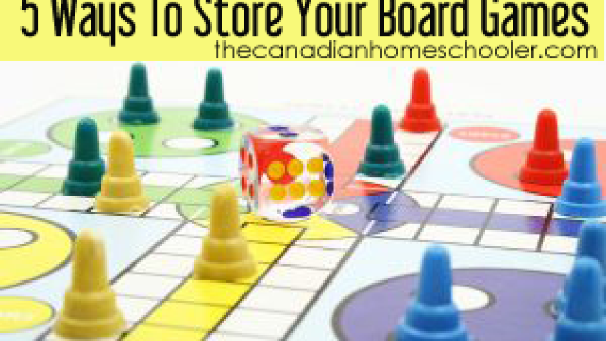 5 Ways To Store Your Board Games