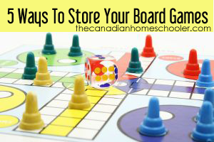 5 ways to Store Board Games