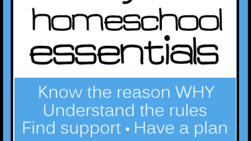 Homeschool Essentials: Understand The Rules
