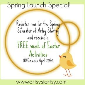 Artsy Startsy Spring Special