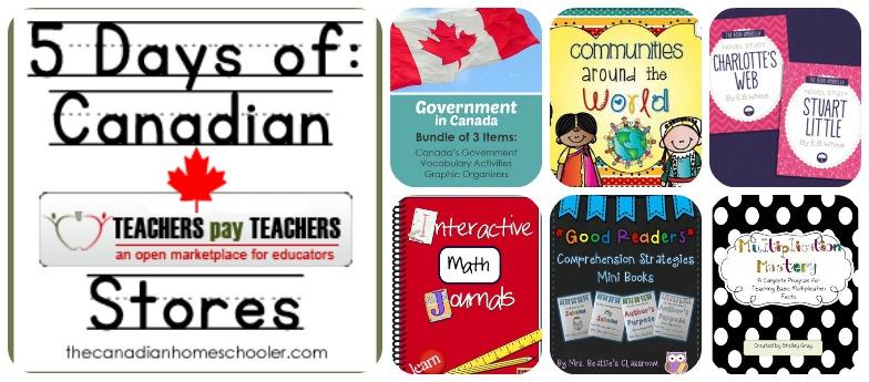5 Days of ... Canadian Teachers Pay Teachers Stores