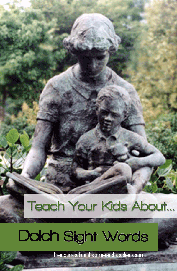 Teach Your Kids About ... Dolch Sight Words