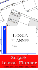 Simple Lesson Planner