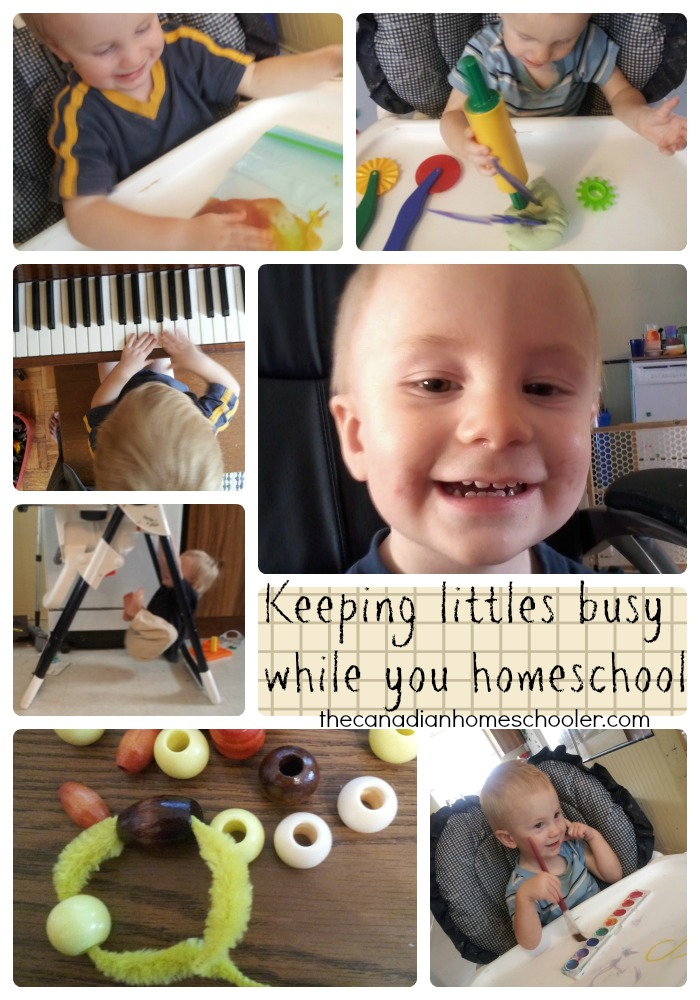 Keeping Littles Busy While Homeschooling
