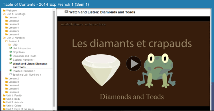 Middlebury Interactive Languages - French - video example