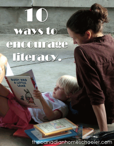 10 ways to encourage literacy