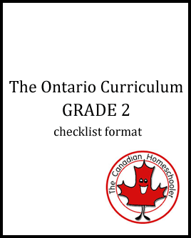 The Ontario Curriculum - Grade 2 - Checklist Format