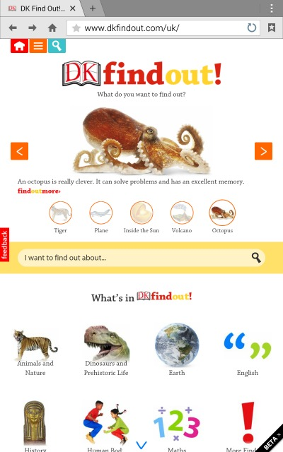DK Find Out - a learning website for curious mind