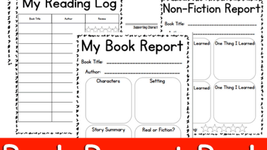Book Report and Reading Log For Elementary & Middle School {Printable}