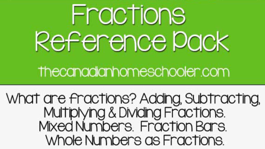 All About Fractions Reference Pack