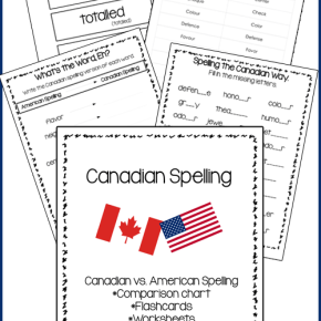 Canadian Spelling Pack