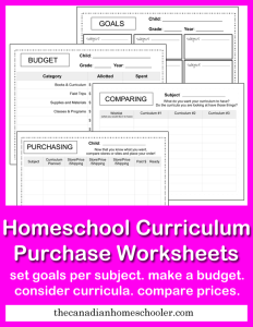 This 4 page pack is designed to help you choose and plan your curriculum for the year.