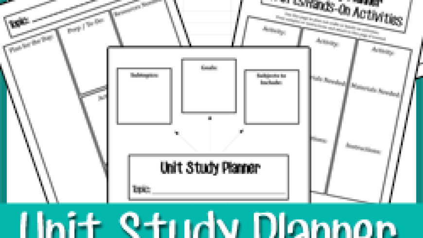 Creating Unit Studies {+Printable}