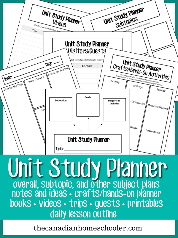 Making your own unit studies can be a lot of fun, and mean that you can tailor fit to your child's favourite subjects and interests. This planner can help you find the resources to use in your study.