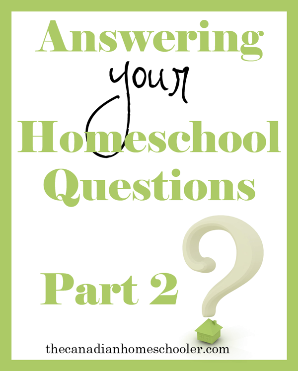 I asked some non-homeschoolers what questions they would like to ask a homeschooler. Here is the continued list of their questions along with my answers.