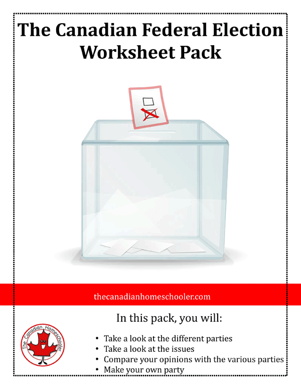 Canadian Federal Elections Worksheets - taking a look at the parties and issues of the federal election