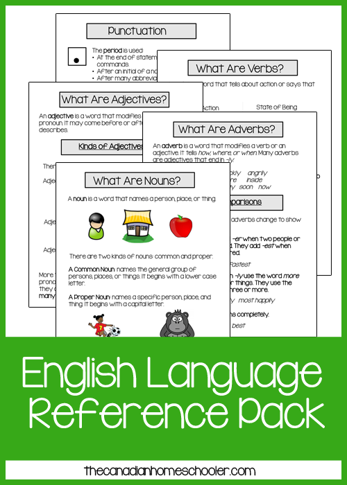 English Language Reference Pack