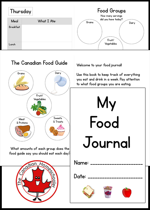 Food Journal for Kids