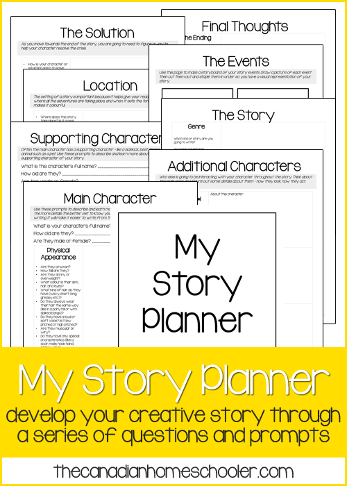 My Story Planner: develop your creative story through a series of questions and prompts