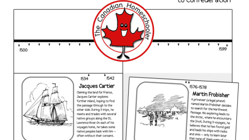 Canadian Timeline – to Confederation {Printable}