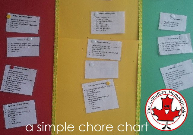 Our Simple Chore Cards System