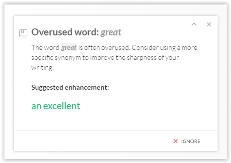 Grammarly Error Expanded
