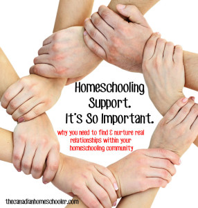 Homeschooling Support. It's So Important.