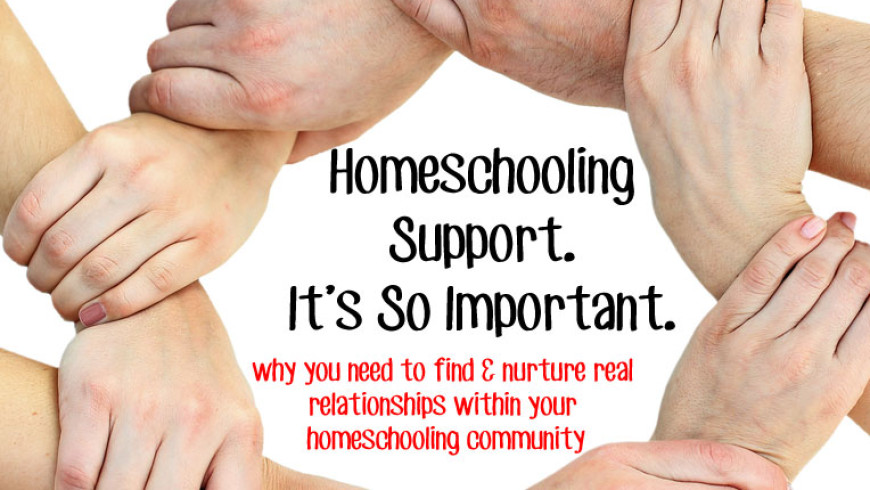 Homeschooling Support. So Important!