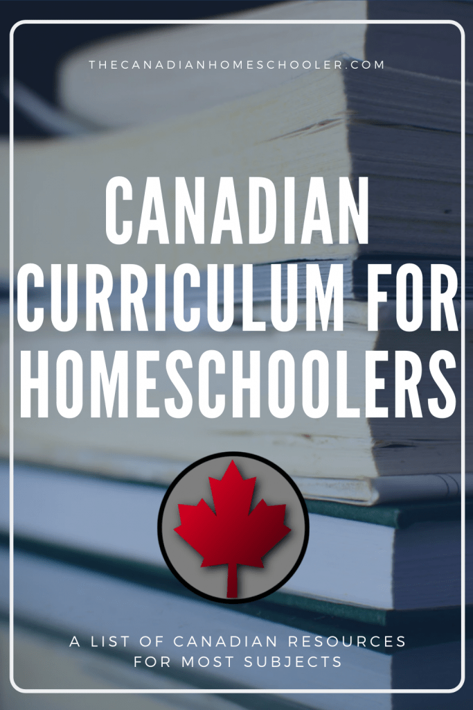 Canadian Curriculum for Homeschoolers: A stack of books with a maple leaf