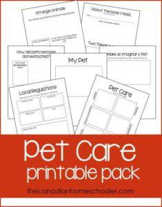 Pet Care Printables
