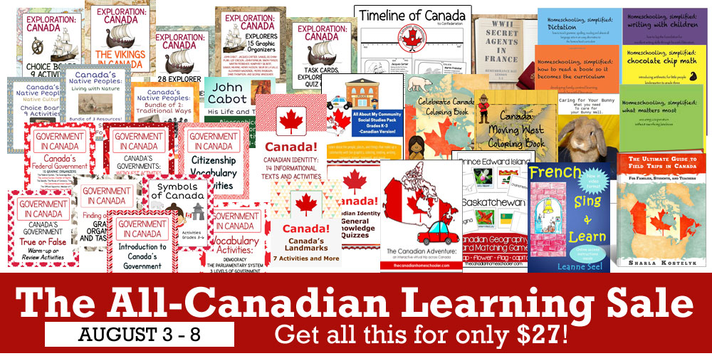 The All-Canadian Homeschool Sale Products