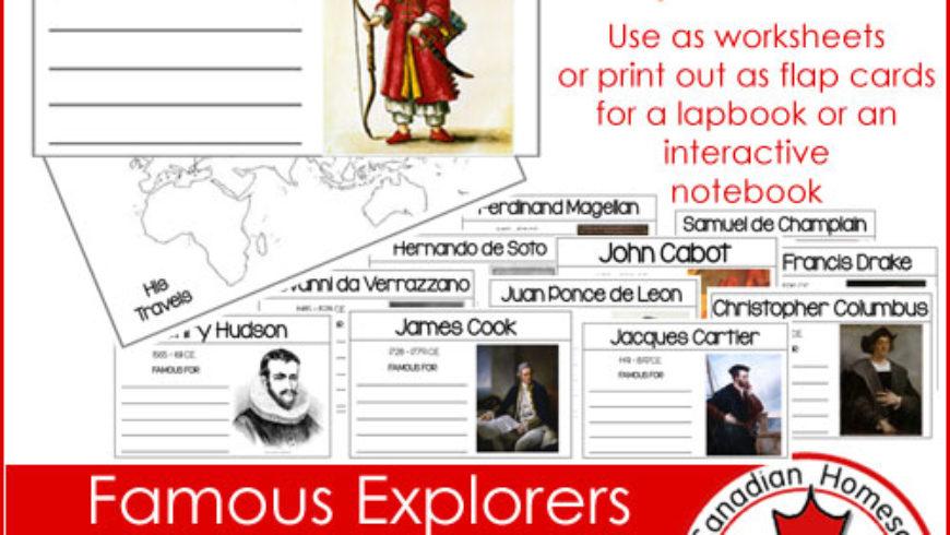 Famous Explorers {Printable}