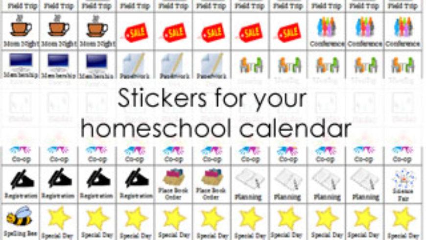 Homeschool Planner Stickers