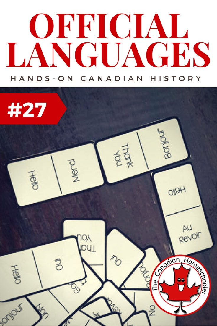 Hands On Canadian History: Our Official Languages Game