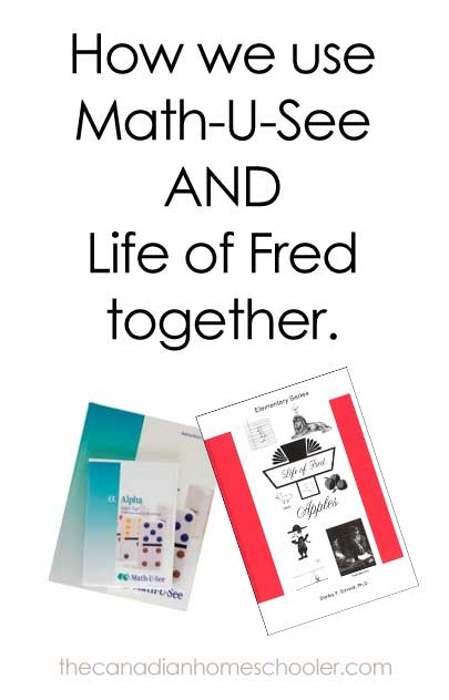 using math-u-see and life of fred together