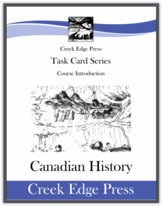 Canadian History Task Cards From Creek Edge Press