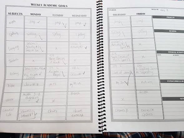 How to Plan a Homeschool Year: Inside Student Planners