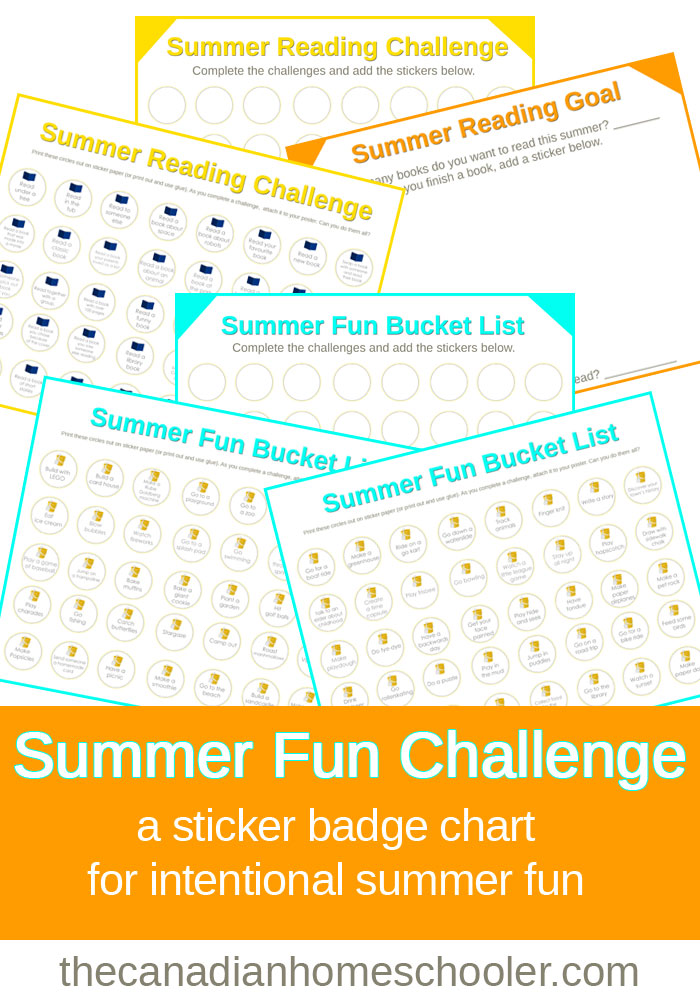 Summer Fun Challenge Printable Badge Charts