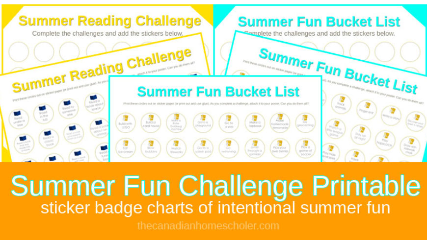 Summer Fun Challenge – A Sticker Badge Chart {Printable}