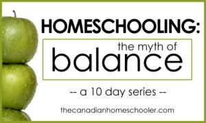 Homeschooling and Balance