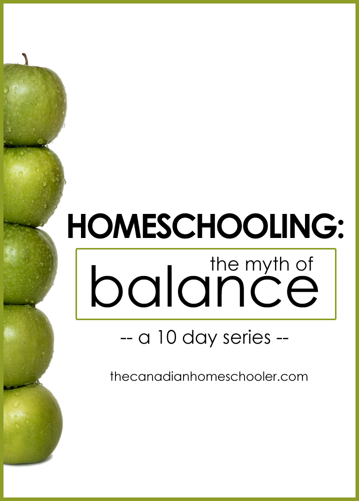 Homeschooling and Balance