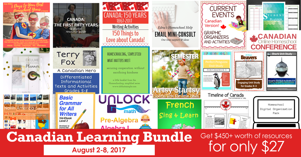 The Canadian Learning Bundle Sale