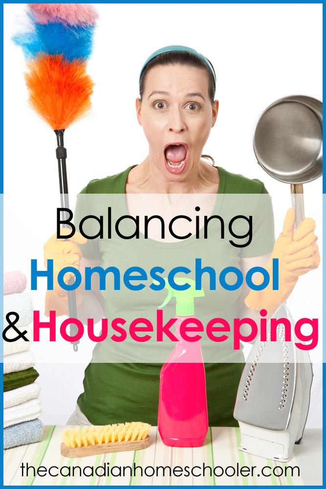 Balancing Homeschool & Housework