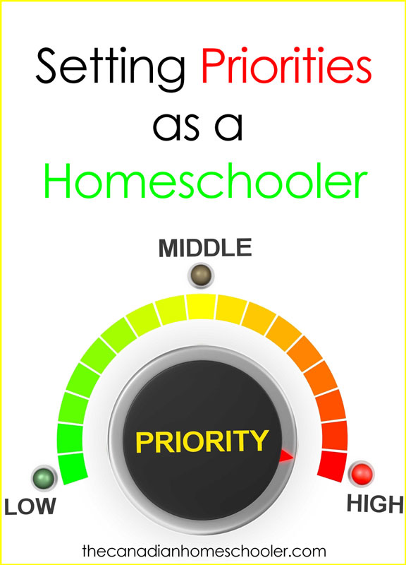 Setting Priorities as a Homeschooler