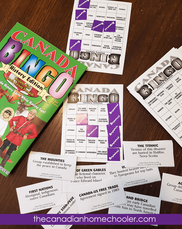 Gallopade International: Canadian Educational Resources - like this BINGO history game!