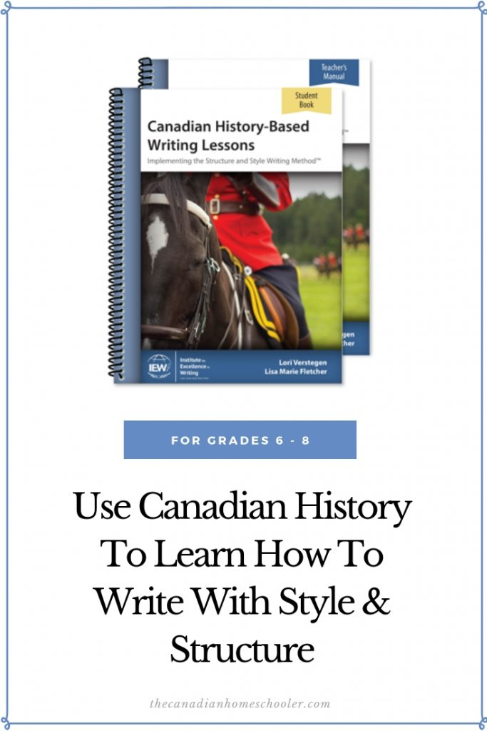 Canadian History-Based Writing Lessons from IEW