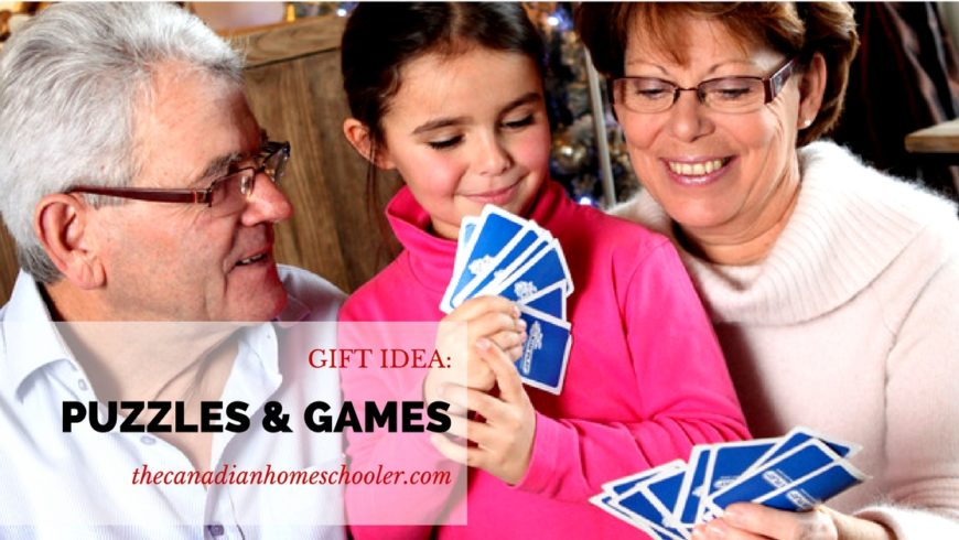 Gift Ideas for Homeschoolers: Puzzles and Games