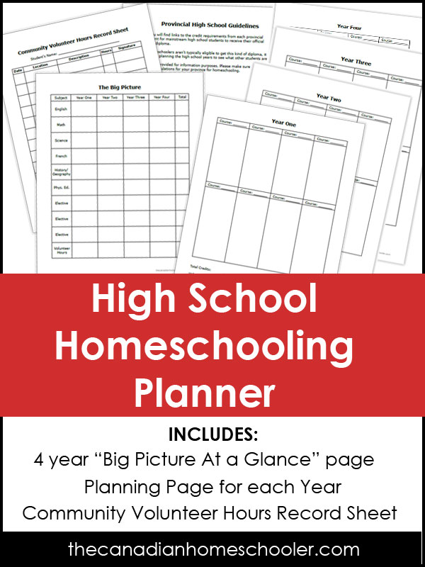 High School Homeschooling Planner
